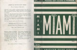 [1941] Planning your vacation in Florida Miami and Dade County, including Miami Beach and Coral...