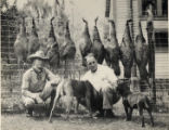 Photographs - - 1940 - - Broward County officials pose after hunting  turkeys.