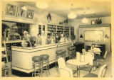 Photographs - - 1940 - - Lunch counter at Smith's Boulevard Pharmacy.