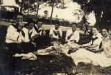 Photographs - - 1919 - - Girls from Fort Lauderdale High School on a picnic.