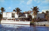 Postcards - - 1970s - - Creighton's Restaurant from water.