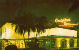 Postcards - - 1970s - - Creighton's Restaurant  - nightime exterior.