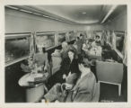 Photographs - - 1949 - -  Interior view of FEC streamlined tavern-lounge-observation car.