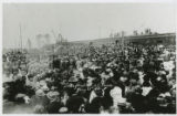 Photographs - - 1912 - - Thousands of citizens gather to welcome              Henry M. Flagler to...