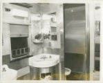 Photographs - - 1966 - - Interior of lavatory in passenger car.
