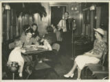 Photographs - - 1940s - - Interior of the Florida Special recreation car / photograph by Harry M....