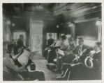 Photographs - - 1910s - 1920s - - Interior view of observation car.