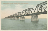 Postcards - - 1912 - 1935 - - Views of the Key West Extension: Bahia Honda Bridge and Long Key...
