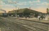 Postcards - - 1919 - - Florida East Coast Railroad [i.e. Railway] depot, West Palm Beach, Fla.