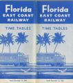 Timetables - - 1962 FEC timetable.