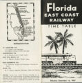 Timetables - - 1967 - - FEC timetable.