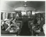 Photographs - - 1940 - -  Interior view of lounge car.