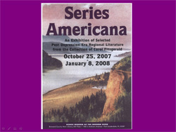 "Presentation: Opening of the Exhibit ""Series Americana: An Exhibition of Selected Post..."