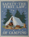 [Pennsylvania: Posters] Safety, the first law of camping / WW [Joe Wolf?]; Department of Forests...