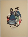 [Kansas: Costume Plates] Nationalistic Costumes of Europe and Asia [incomplete set of 7 plates]